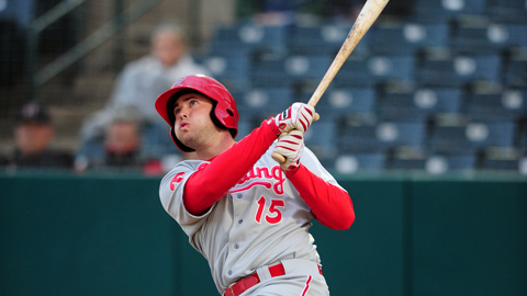 Darin Ruf is first in the Eastern League with a .393 average and 26 RBIs.