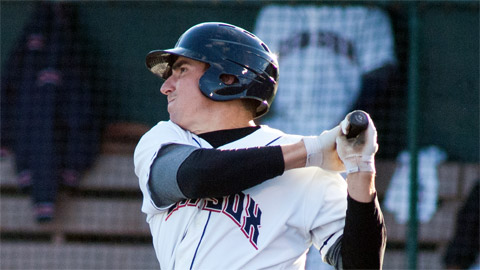 Matt McBride had four hits and five RBIs in the record-setting affair.